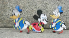 Dancing mickey mouse and donald duck Stock Footage
