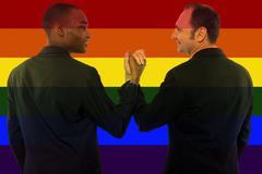 Gay Rights Rainbow Iconic Image Style - stock photo