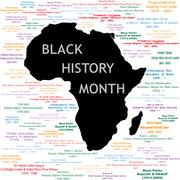 Black History Month Collage - stock illustration