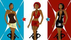 Nightclub Fashion - stock illustration
