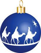 3 Kings Christmas Ornament - stock illustration