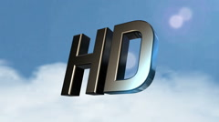 HD icon_clouds back Stock Footage
