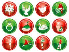 12 Days of Christmas Stock Illustration