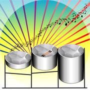 Steel Pan Drums - stock illustration