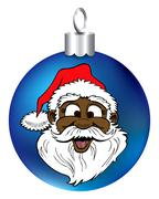 Stock Illustration of Santa Face Ornament