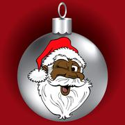 Santa Face Ornament - stock illustration
