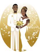 Bride Groom - stock illustration