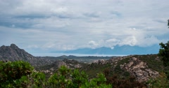 4K, Timelapse, Palasca Region, Corsica Stock Footage