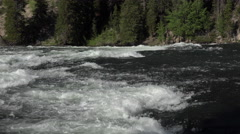Rapids Yellowstone River mountain valley forest 4K Stock Footage