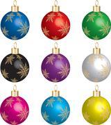 Christmas Ornament Set  Stock Illustration