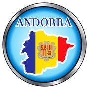 Andorra Round Button Stock Illustration
