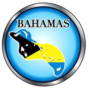 Bahamas Round Button Stock Illustration