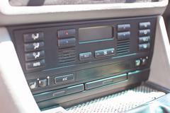 Car climate control close-up photo - stock photo