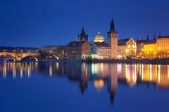 Czech Republic, Prague, Charles Bridge Stock Photos