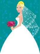 Wedding Gown  Stock Illustration