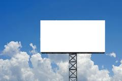 blank billboard for advertisement - stock photo