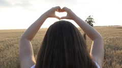 Heart-Shape with Hands Stock Footage