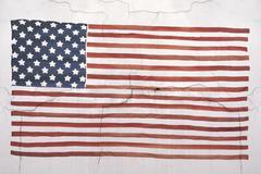 American national flag on wall Stock Photos