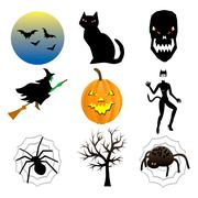 Halloween Icons - stock illustration