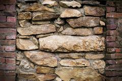 masonry stone wall background - stock photo