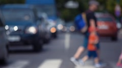 Daily Traffic - Out of Focus Stock Footage