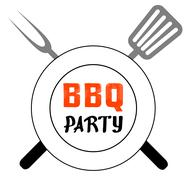 BBQ party - stock illustration
