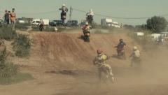Motocross competitions. Class 85cc. Stock Footage