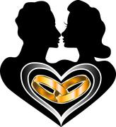 Marriage Love  - stock illustration
