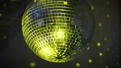 Disco Mirror Ball Center Glitter Stock Footage
