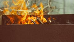 Fire for barbecue Stock Footage