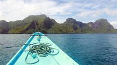 Bacuit Archipelago around El Nido - stock footage
