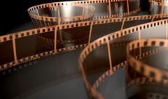 Film Strip Curled - stock illustration
