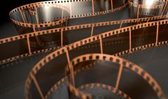 Film Strip Curled Stock Illustration