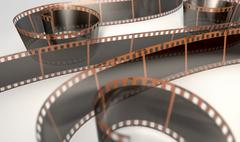 Film Strip Curled - stock illustration