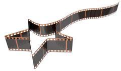 Film Strip Shooting Star Curled - stock illustration