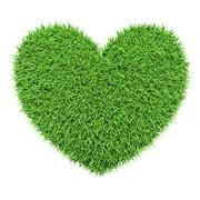 Stock Illustration of Ecology eco conservation nature love creative concept - green heart made of g