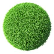 Green grass sphere isolated - stock illustration