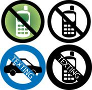 No Cell Phone Sign Piirros