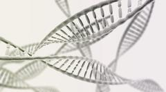Many DNA chains on the light background - stock illustration