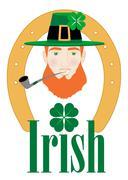 St. Patricks Irish Design Stock Illustration