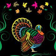 Thanksgiving Turkey Card - stock illustration