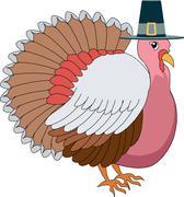 Turkey Pilgrim Stock Illustration