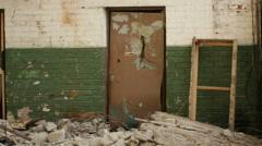 Tumbling door - stock footage