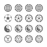 Four symbols of eternal moving Stock Illustration