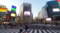 Time lapse - Pedestrians at Shibuya crossing - stock footage