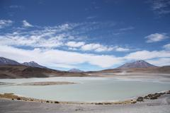 Laguna Honda - Deep Lagoon - in Atacama Desert in Bolivia Stock Photos