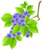 Stock Illustration of floral background with green branch
