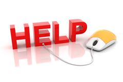 Online help Stock Illustration
