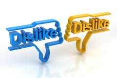 Pair of dislike symbols Stock Illustration