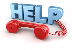 Help and Telephone Receiver - stock illustration